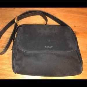 BALLY leather suede black cross body handbag